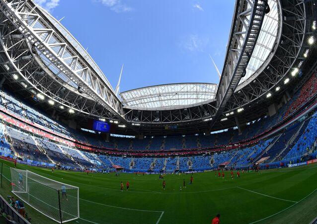 Lo stadio San Pietroburgo che ospiterà la finale della Confederations Cup