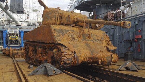 Uno dei carri armati Sherman recuperati dalla Donaldson. - Sputnik Italia