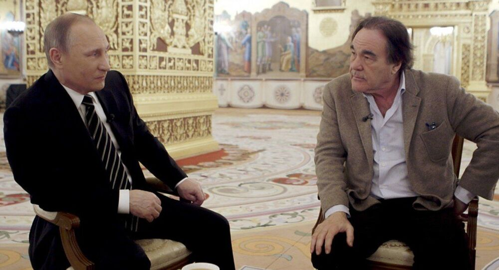 Vladimir Putin e Oliver Stone