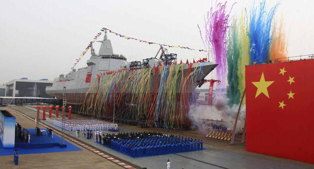 Inaugurazione del nuovo cacciatorpediniere cinese Type 055