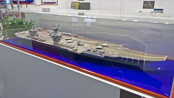 Model of the Project 23000E 'Shtorm', Russia's prospective new carrier design - Sputnik Italia