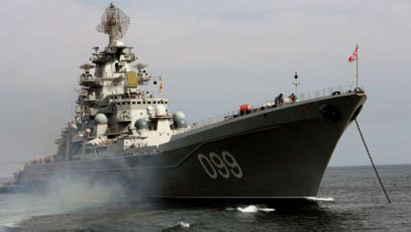 Тяжелый атомный ракетный крейсер Северного флота Петр Великий - Sputnik Italia