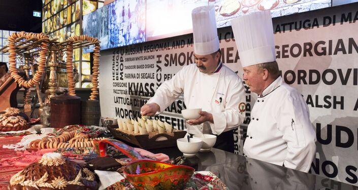 Master Class di cucina russa all'EXPO di Milano