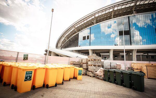 L'impianto di stoccaggio dei rifiuti solidi all'interno dello stadio Kazan Arena - Sputnik Italia