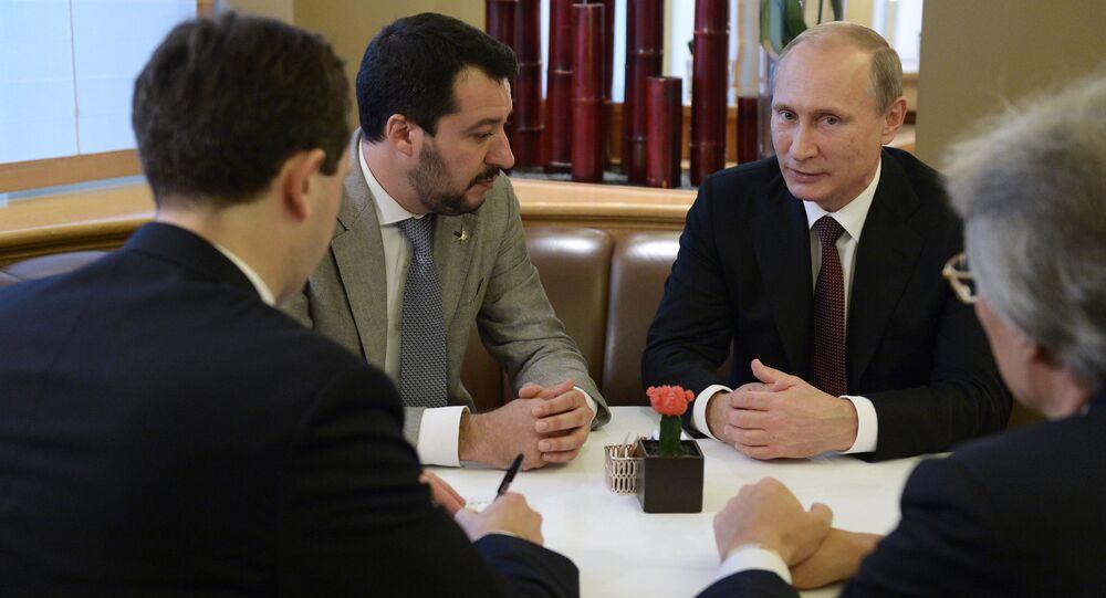 Vladimir Putin e Matteo Salvini