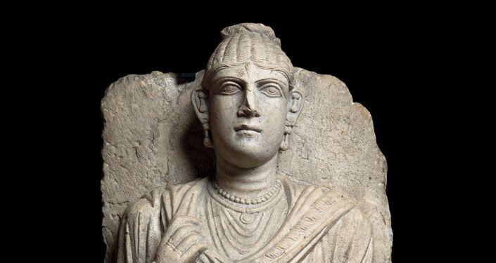 Rilievo funerario con busto femminile Seconda metà II secolo d. C