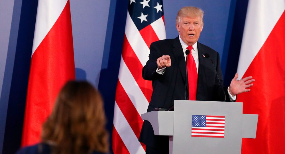 Donald Trump a Varsavia