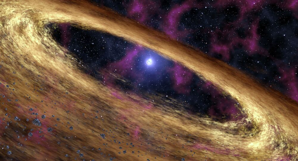 Astrophysicists were able to determine some of the characteristics of a binary pulsar system