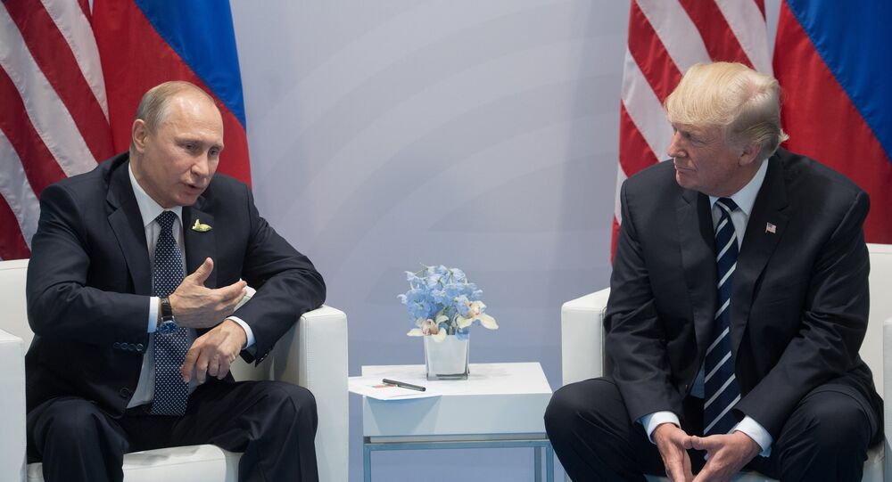Donald Trump e Vladimir Putin al G20 di Amburgo