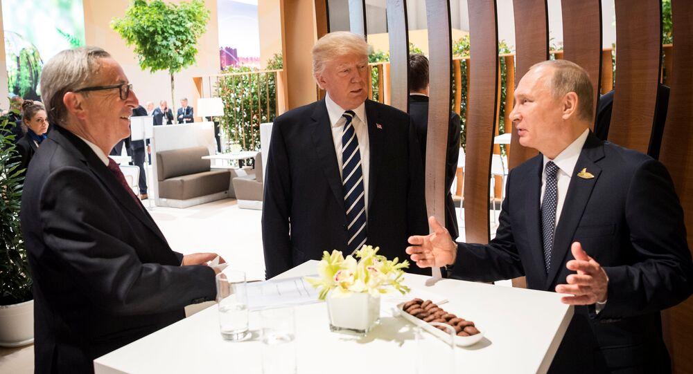 Putin, Junker e Trump al G20 di Amburgo