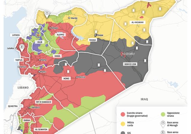 Offensiva contro l'ISIS in Siria