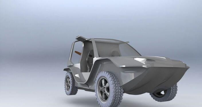 Il prototipo dell'anfibio volante Triton presentato al MAKS-2017