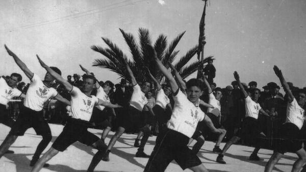 Saggio ginnico della Gioventù Fascista, 1923 - Sputnik Italia
