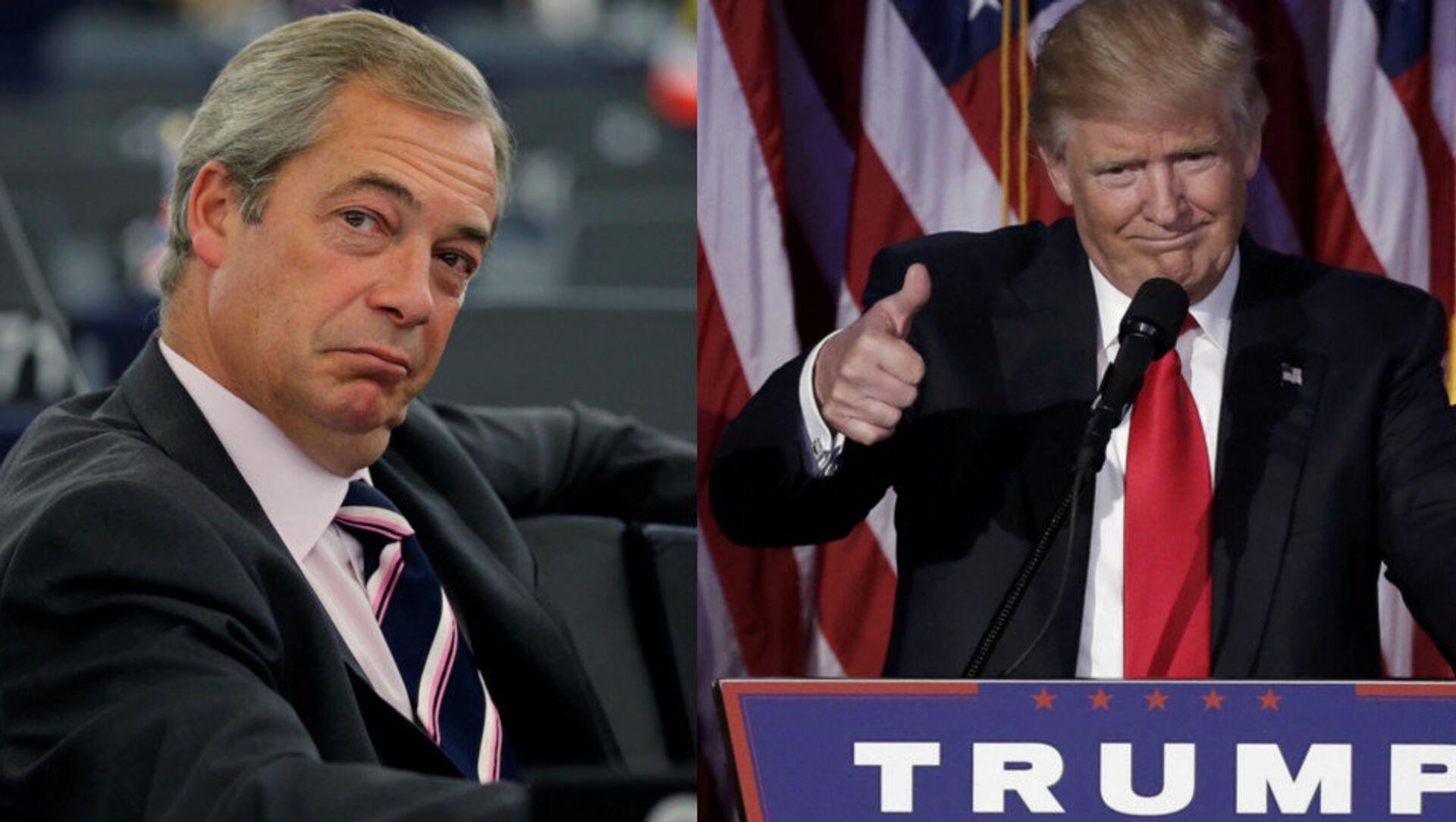 Nigel Farage e Donald Trump - Sputnik Italia, 1920, 27.04.2021