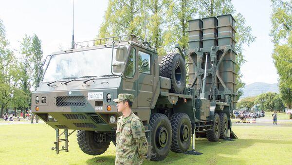 Type 03 Medium-Range Surface-to-Air Missile, The 61th Memorial Ceremony, Camp Katsura, JGSDF - Sputnik Italia