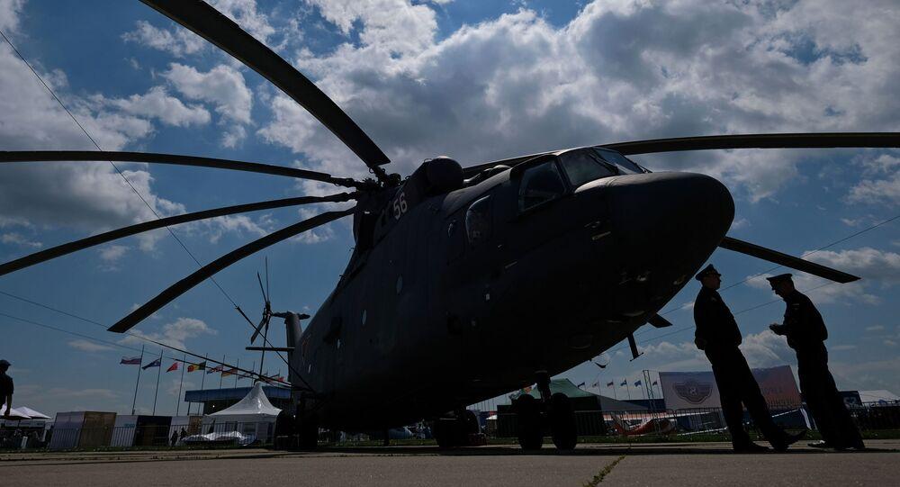 Elicotteto Mi-26 al salone aerospaziale MAKS 2017