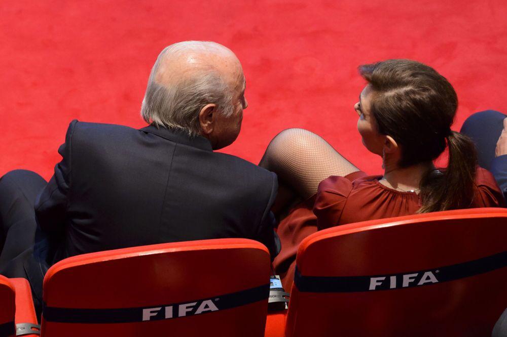 Presidente Fifa Joseph Blatter alla 65esima edizione del congresso della Fifa a Zurigo, 2015.