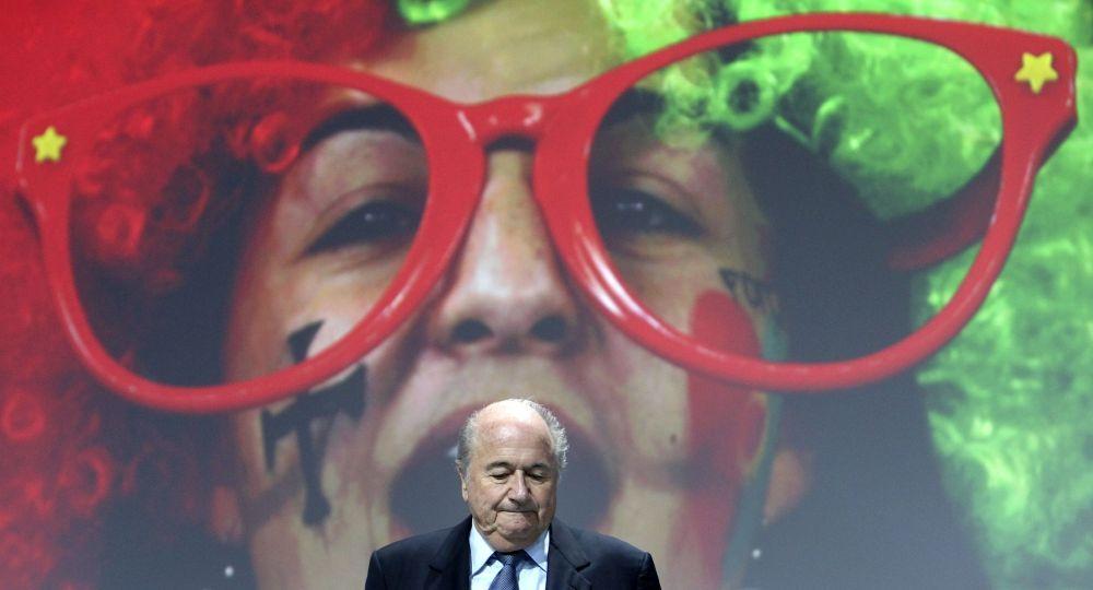 Presidente Fifa Joseph Blatter alla 61esima edizione del congresso della Fifa a Zurigo, 2011.