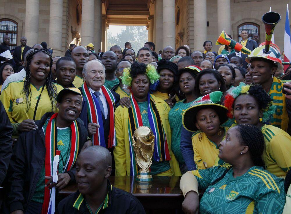 Presidente Fifa Joseph Blatter in Sudafrica.