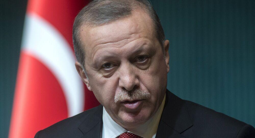 Presidente turco Recep Tayyip Erdogan