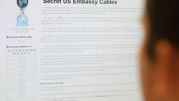 Pagina del sito Wikileaks - Sputnik Italia