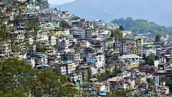 General view of Gangtok in the north-eastern Indian state of Sikkim - Sputnik Italia