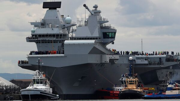 Portaerei Inglese HMS Queen Elizabeth - Sputnik Italia