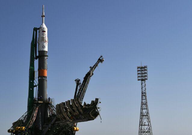 """Il lancio della navetta """"Soyuz MC-05"""" (foto d'archivio)"""