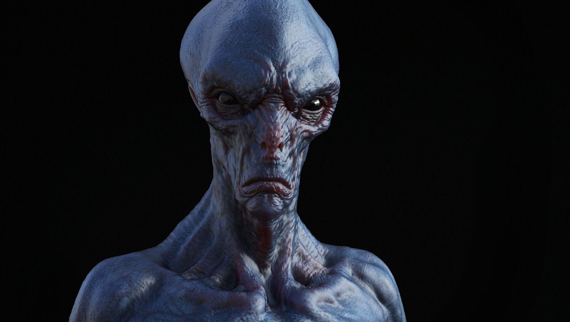 Immagine di un alieno in 3D - Sputnik Italia, 1920, 01.05.2021