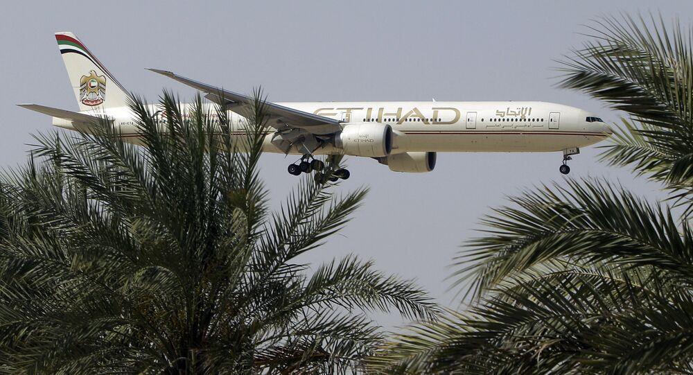 Aereo della compagnia di bandiera degli Emirati Arabi Etihad Airways