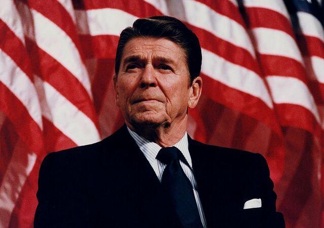 Reagan in Minneapolis, Minnesota, 1982