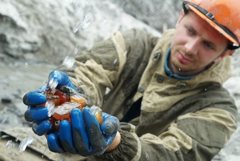 L'estrazione dell'ambra a Kaliningrad
