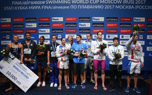 I vincitori della Coppa del Mondo di nuoto a Mosca - Sputnik Italia