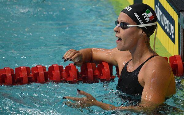 Federica Pellegrini nella vasca della piscina Olimpiskiy di Mosca - Sputnik Italia