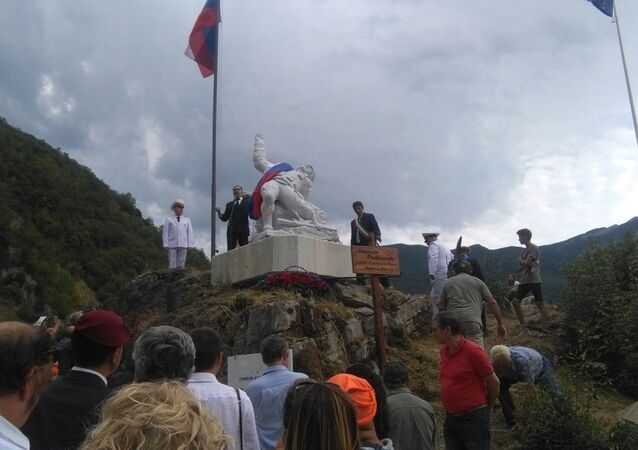 L'inaugurazione del monumento dedicato a Alexander Prokhorenko