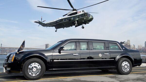 Вертолет и автомобиль президента США  - Sputnik Italia