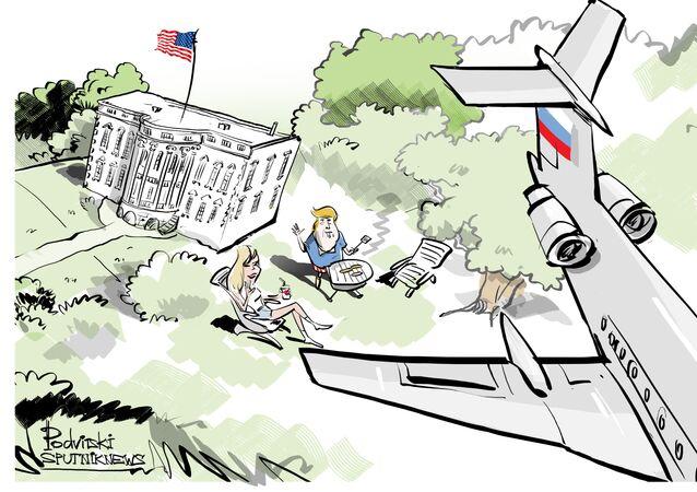 Aereo russo sorvola Casa Bianca