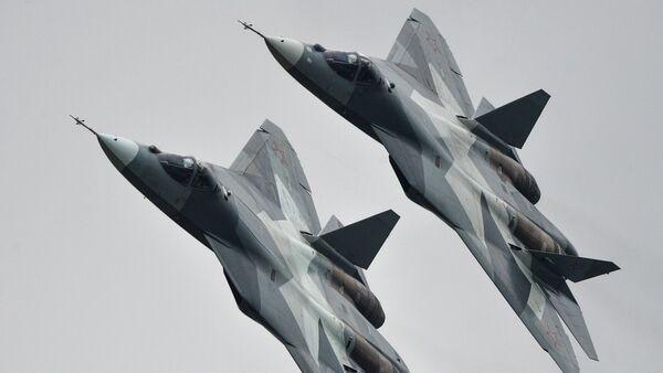 T-50 strike aircraft at the MAKS-2013 Aviation and Space Salon in Zhukovsky - Sputnik Italia