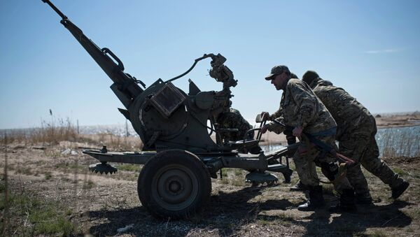 Artiglieria esercito ucraino nel Donbass - Sputnik Italia
