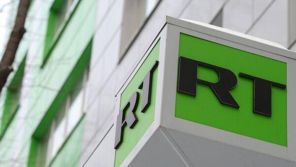 Il logo di Russia Today sulla sede dell'emittente a Mosca - Sputnik Italia