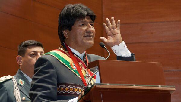 Bolivia's President Evo Morales speaks during a ceremony in Sucre, Bolivia, May 24, 2016 - Sputnik Italia