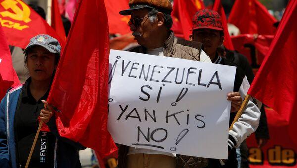 Una manifestazione per appoggiare il presidente di Venezuela Nicolas Maduro in Messico. - Sputnik Italia