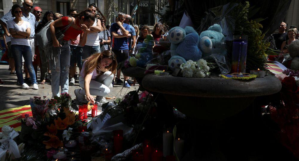 Commemorazione delle vittime dell'attentato a Barcelona