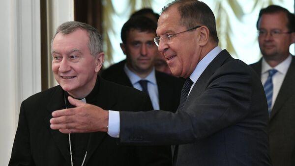 Sergei Lavrov meets with Vatican Secretary of State Cardinal Pietro Parolin - Sputnik Italia