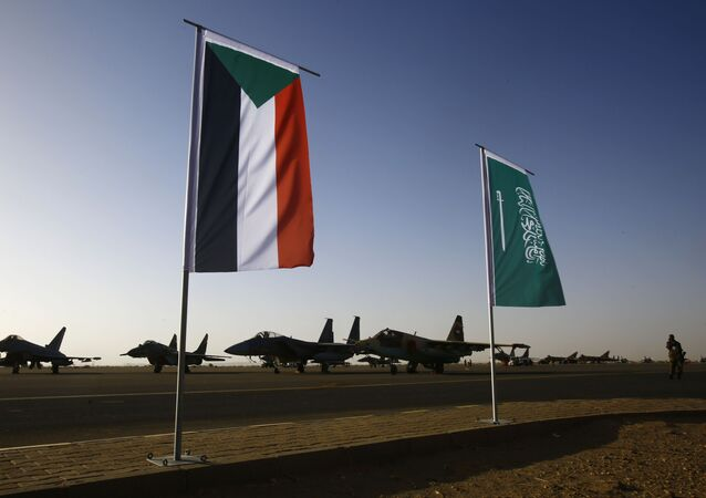 Le bandiere del Sudan e dellArabia Saudita
