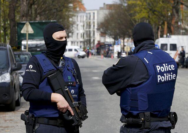 Polizia a Bruxelles, Belgio