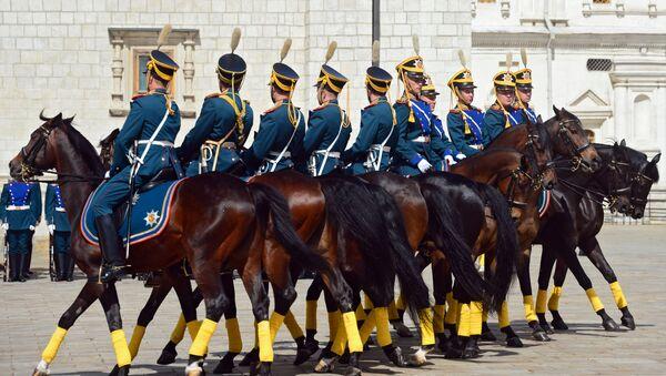 Il Reggimento presidenziale russo al festival Torre Spasskaya - Sputnik Italia