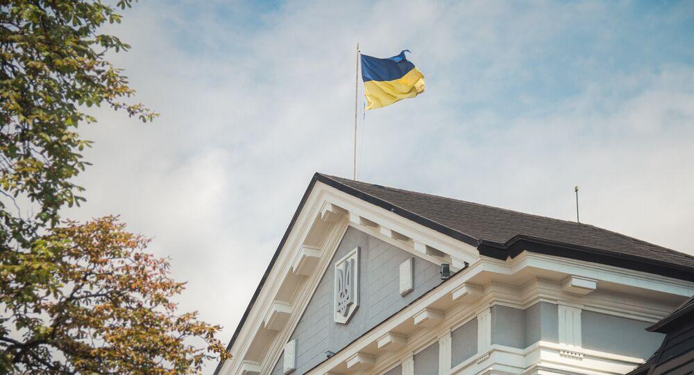 Quartiere generale del servizio di sicurezza ucraino (Sbu) a Kiev