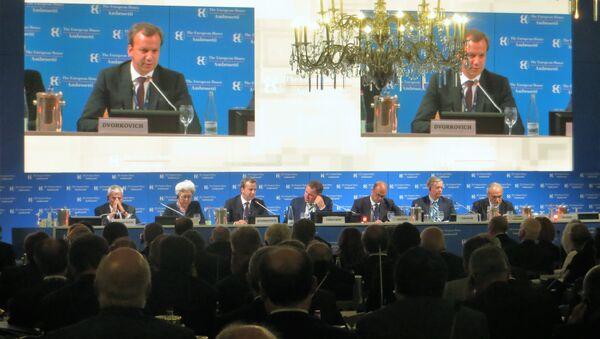 Intervento del vicepremier russo Arkadij Dvorkovič al Forum The European House – Ambrosetti a Cernobbio. - Sputnik Italia