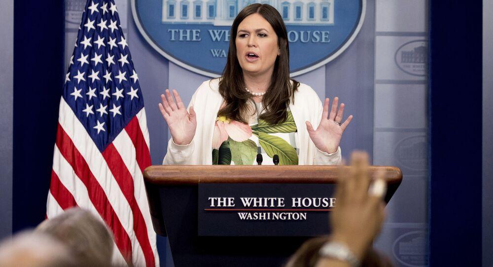 Il portavoce della Casa Bianca Sarah Huckabee Sanders